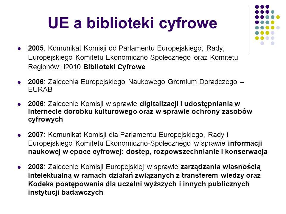 UE a biblioteki cyfrowe