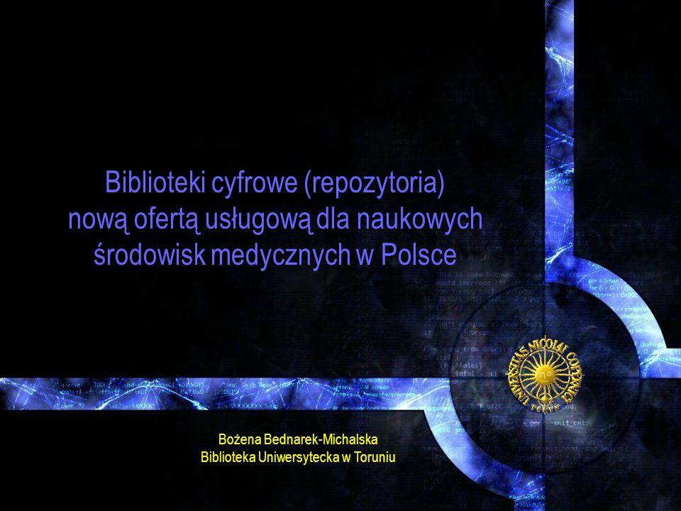 Biblioteki cyfrowe (repozytoria)