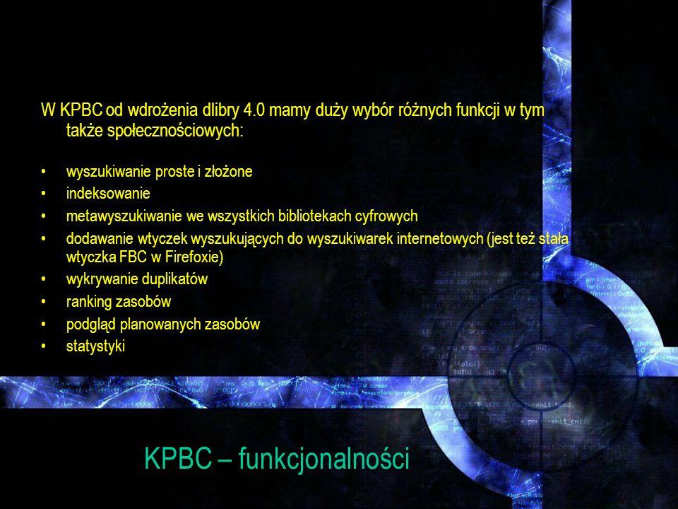 KPBC – funkcjonalności
