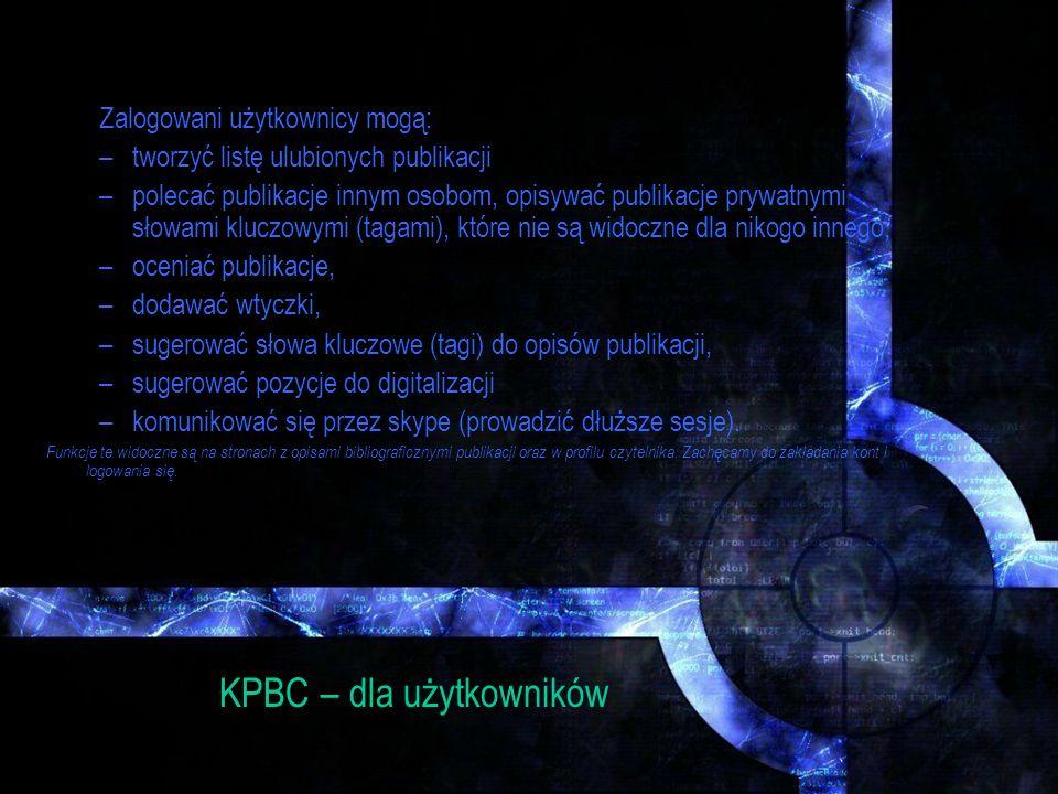 KPBC – dla użytkowników