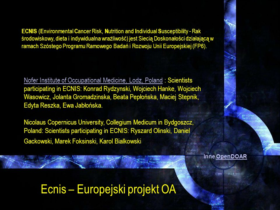 Ecnis – Europejski projekt OA