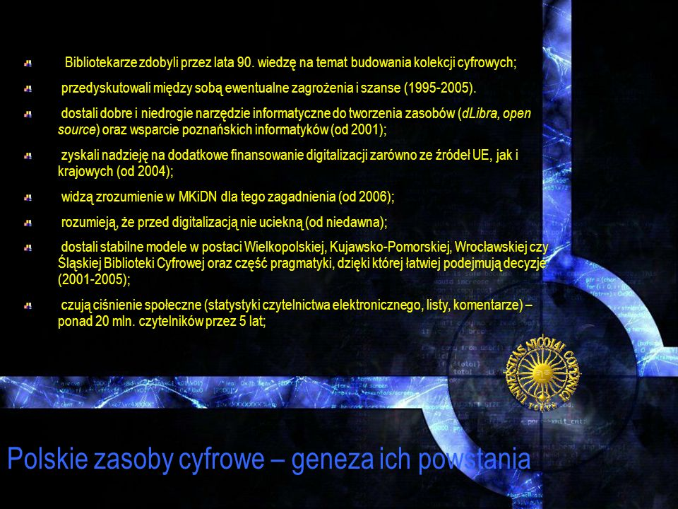Polskie zasoby cyfrowe – geneza ich powstania