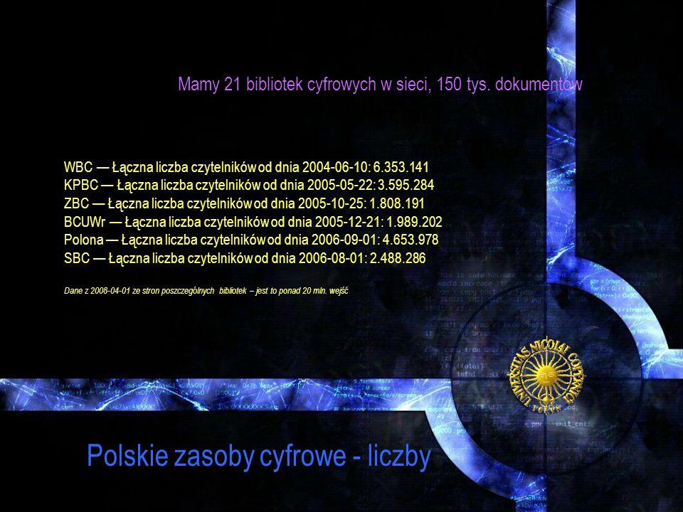 Polskie zasoby cyfrowe - liczby