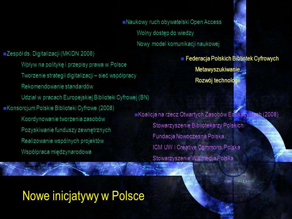 Nowe inicjatywy w Polsce
