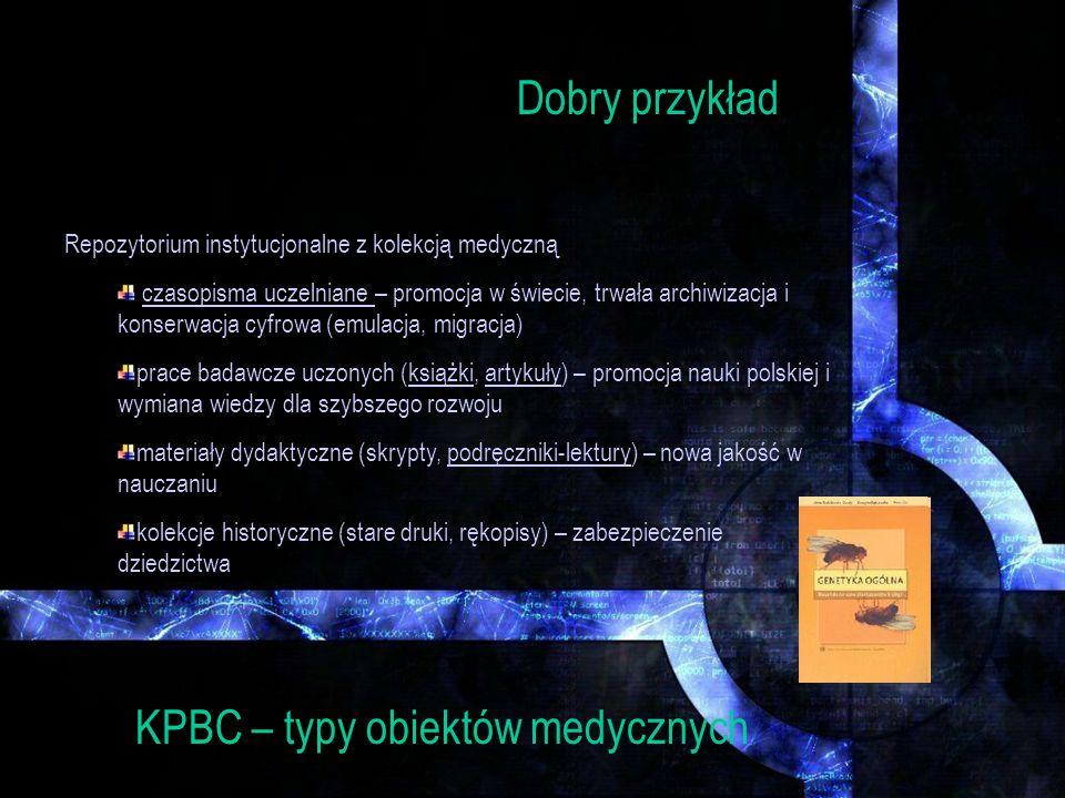 KPBC – typy obiektów medycznych