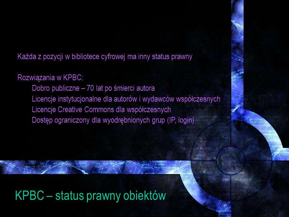 KPBC – status prawny obiektów