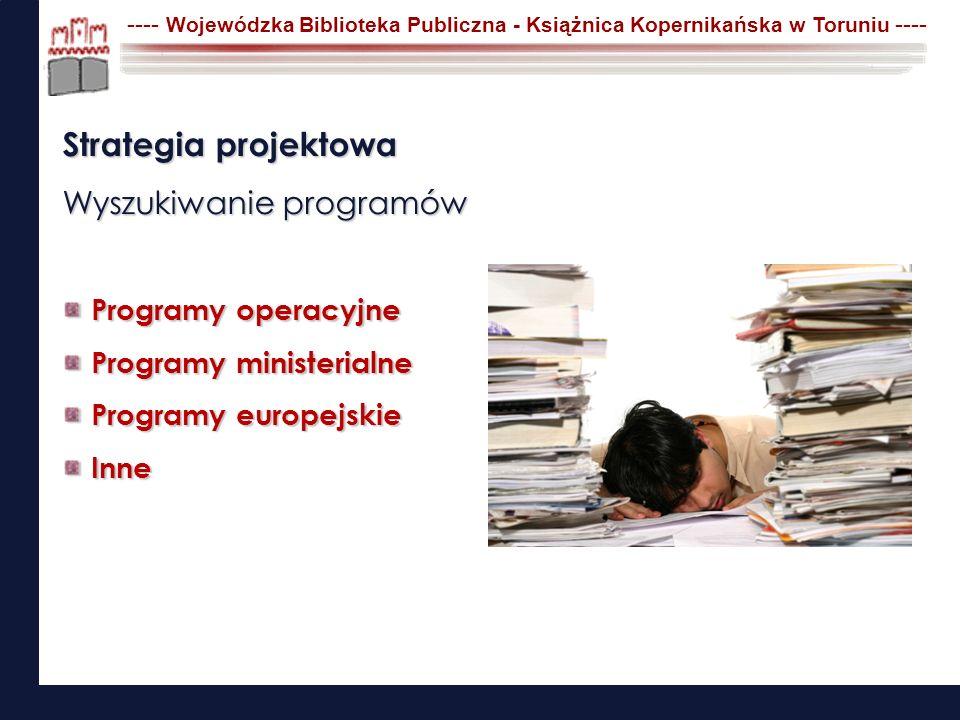 Strategia projektowa Wyszukiwanie programów Programy operacyjne