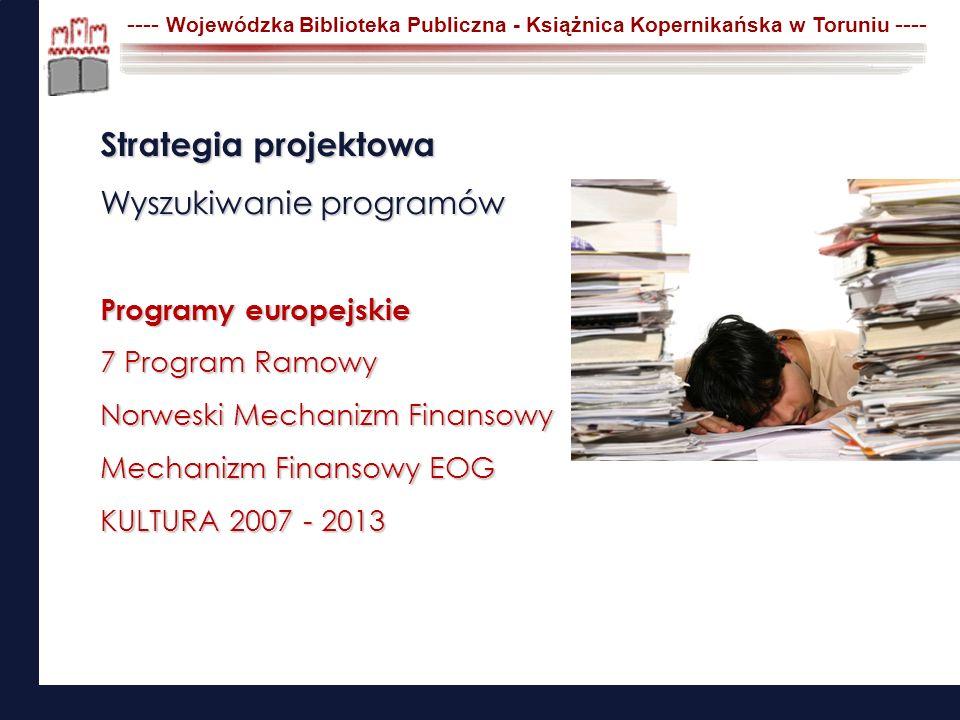Strategia projektowa Wyszukiwanie programów Programy europejskie