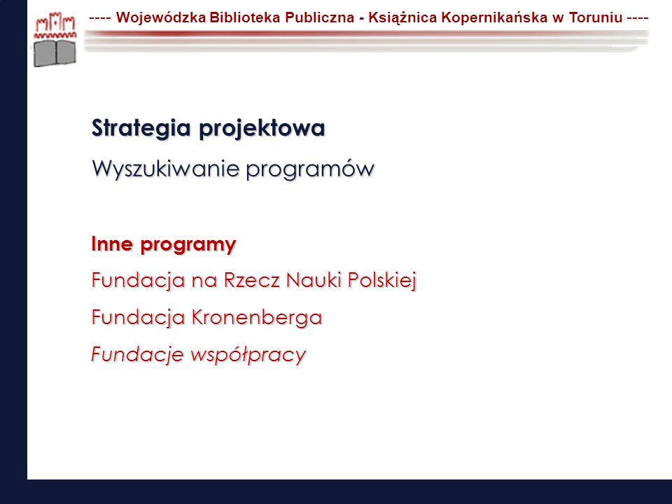 Strategia projektowa Wyszukiwanie programów Inne programy