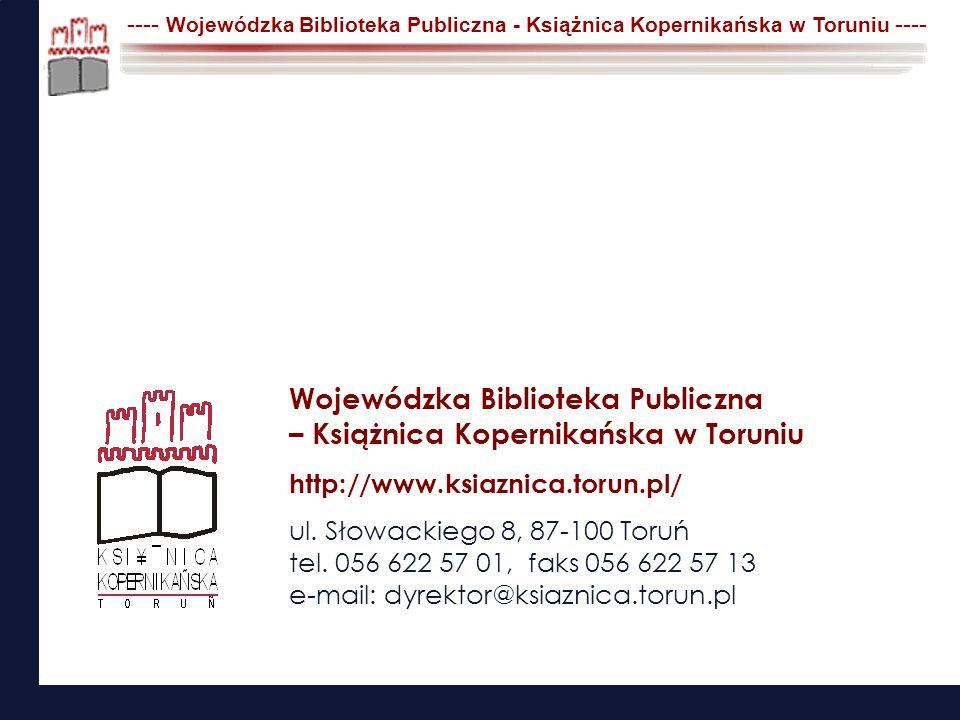Wojewódzka Biblioteka Publiczna – Książnica Kopernikańska w Toruniu
