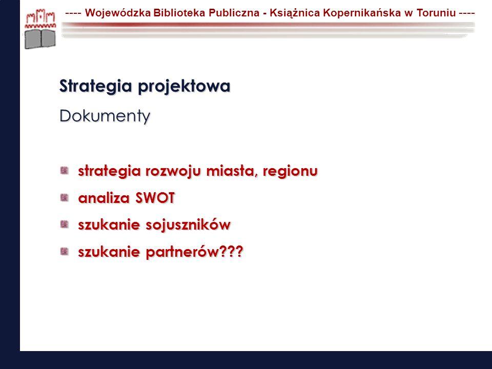 Strategia projektowa Dokumenty strategia rozwoju miasta, regionu