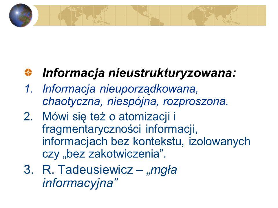 Informacja nieustrukturyzowana: