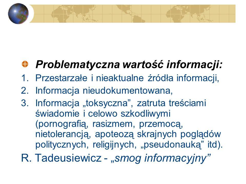 Problematyczna wartość informacji: