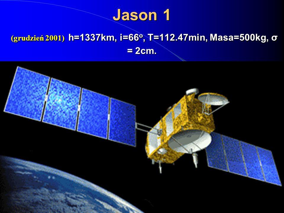 Jason 1 (grudzień 2001) h=1337km, i=66o, T=112