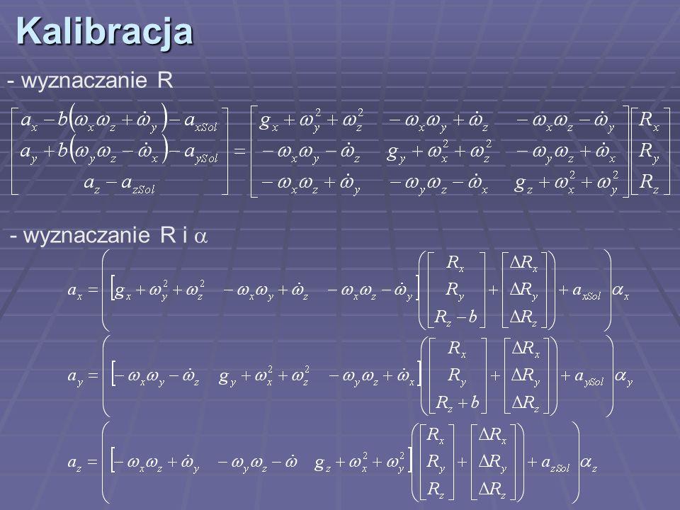 Kalibracja wyznaczanie R - wyznaczanie R i a