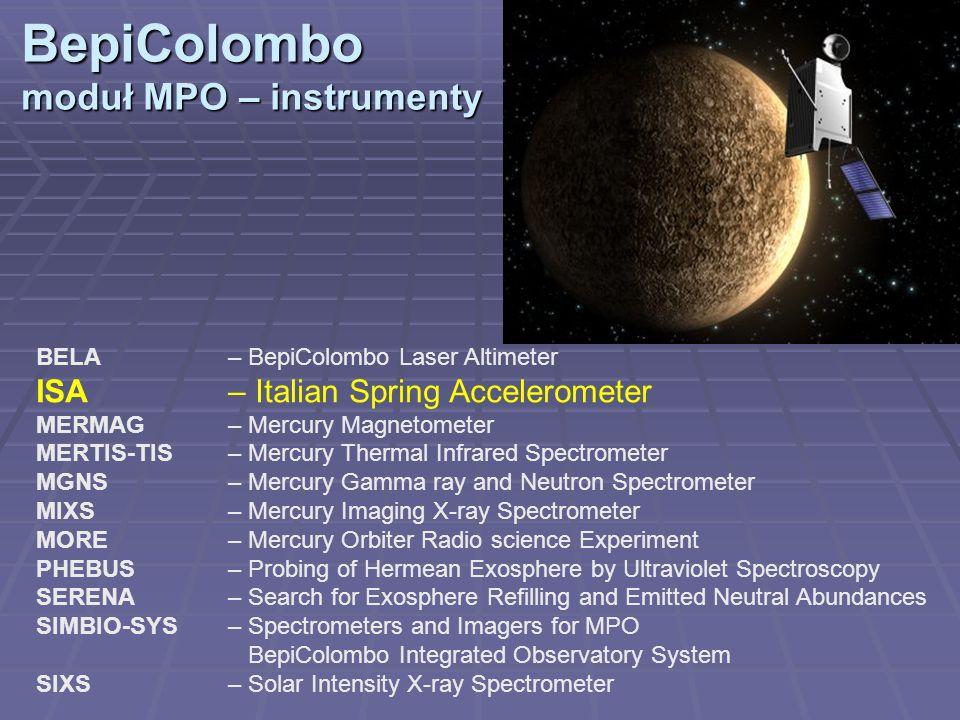 BepiColombo moduł MPO – instrumenty ISA – Italian Spring Accelerometer
