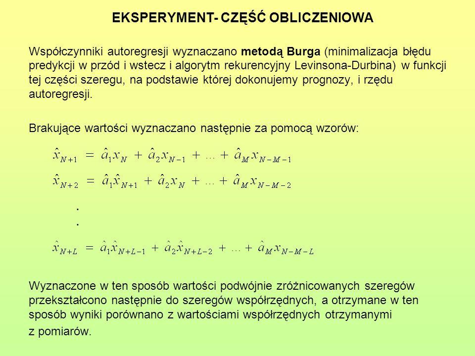 EKSPERYMENT- CZĘŚĆ OBLICZENIOWA