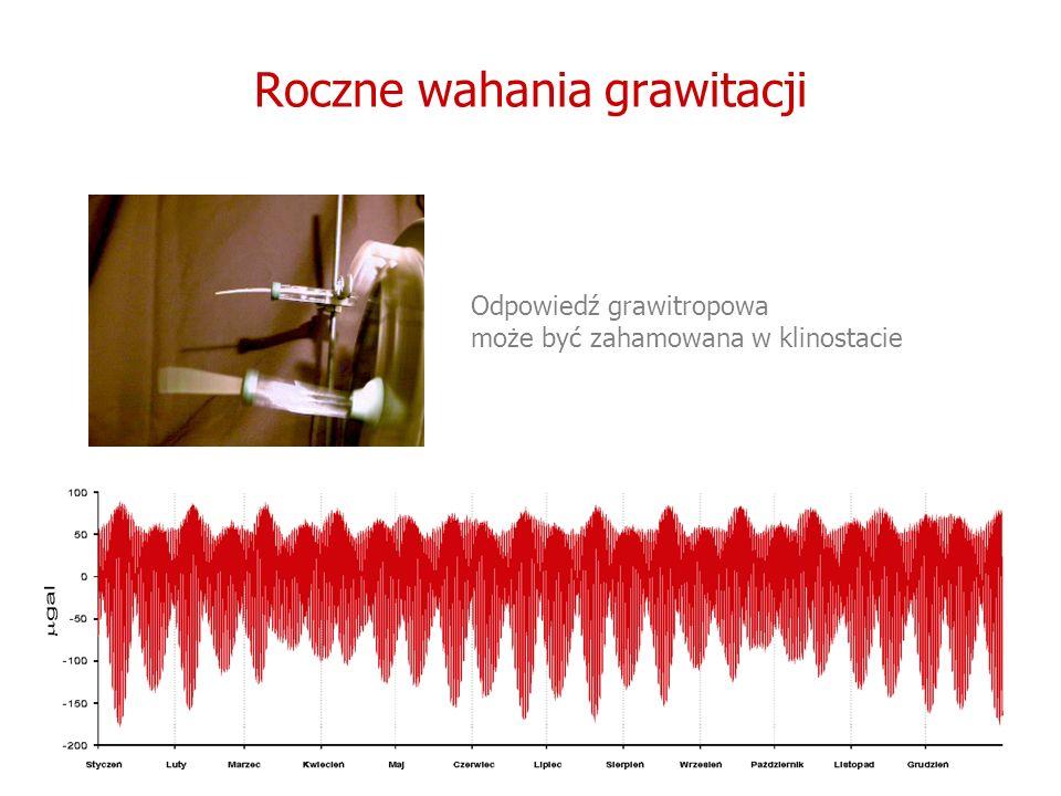 Roczne wahania grawitacji