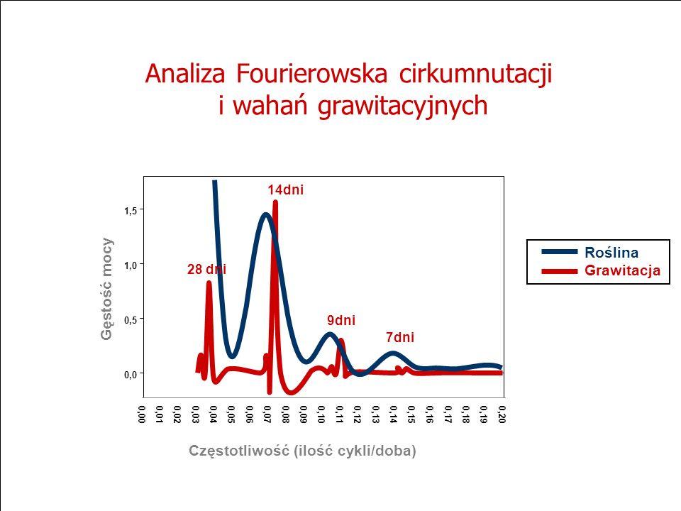 Analiza Fourierowska cirkumnutacji i wahań grawitacyjnych