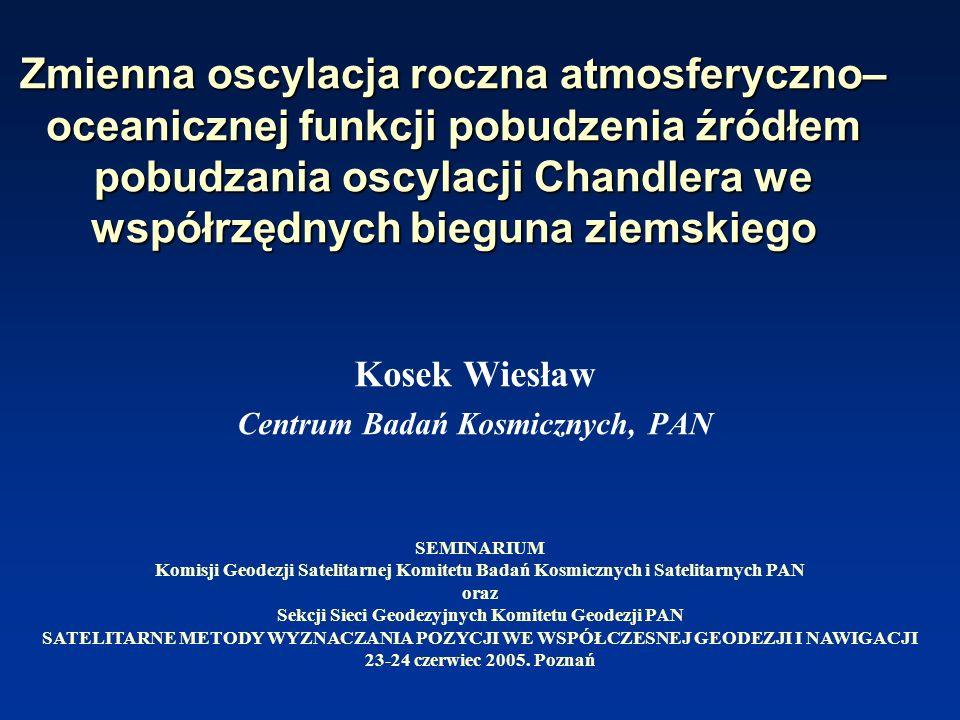 Kosek Wiesław Centrum Badań Kosmicznych, PAN