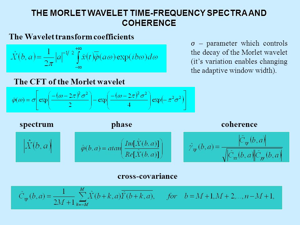 THE MORLET WAVELET TIME-FREQUENCY SPECTRA AND COHERENCE