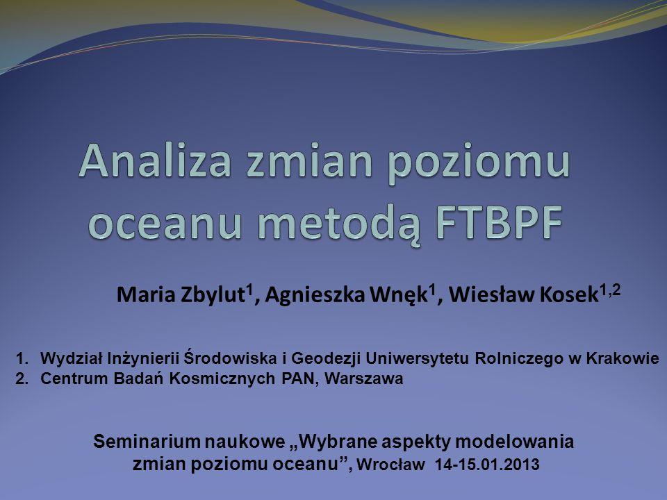 Analiza zmian poziomu oceanu metodą FTBPF