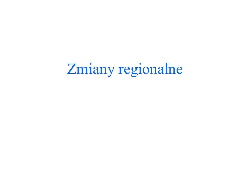 Zmiany regionalne