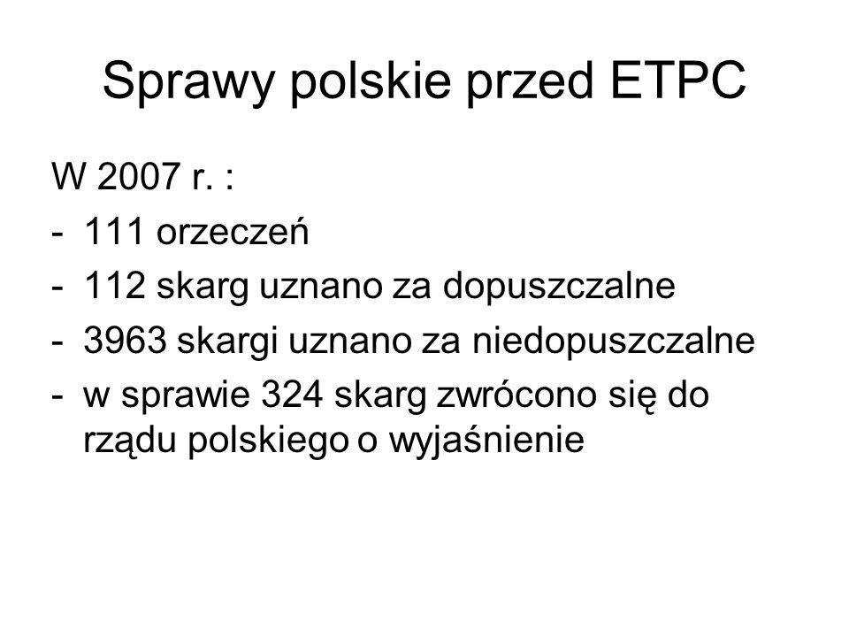 Sprawy polskie przed ETPC
