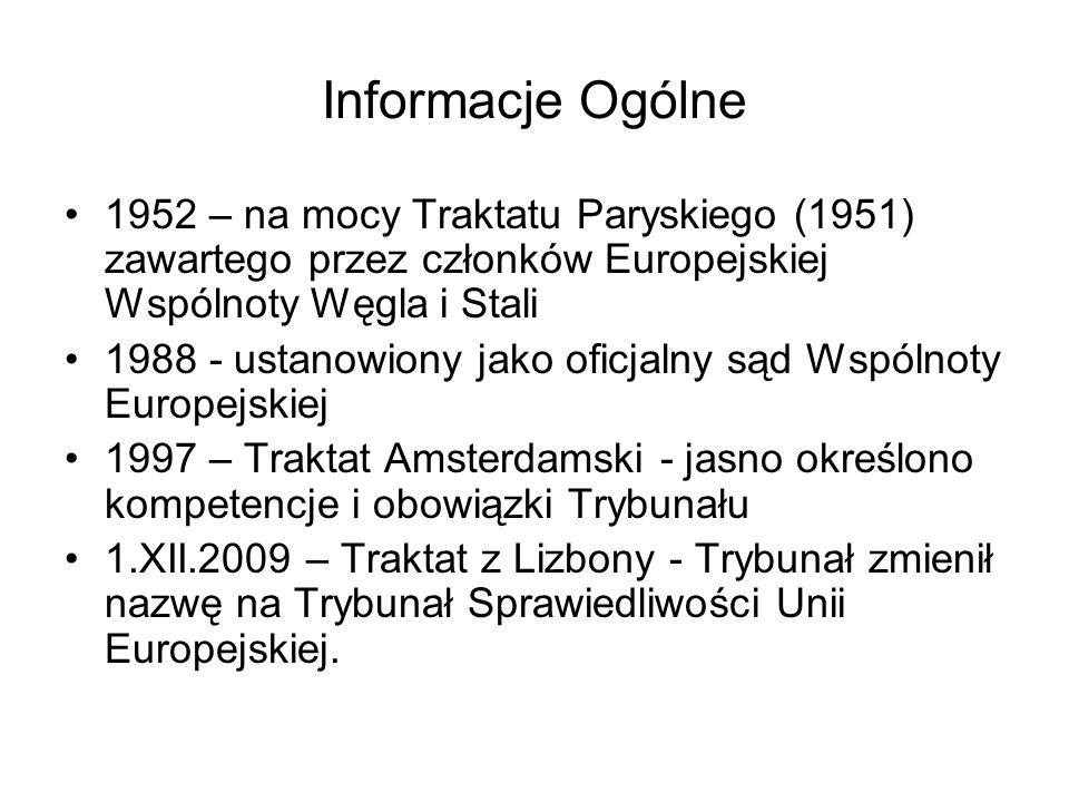 Informacje Ogólne 1952 – na mocy Traktatu Paryskiego (1951) zawartego przez członków Europejskiej Wspólnoty Węgla i Stali.
