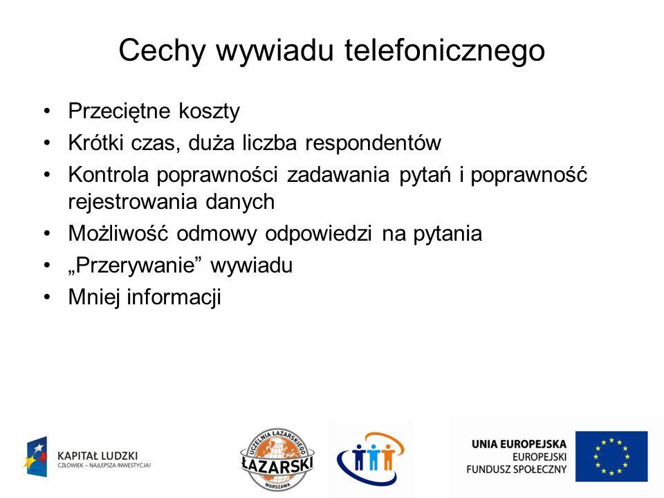 Cechy wywiadu telefonicznego