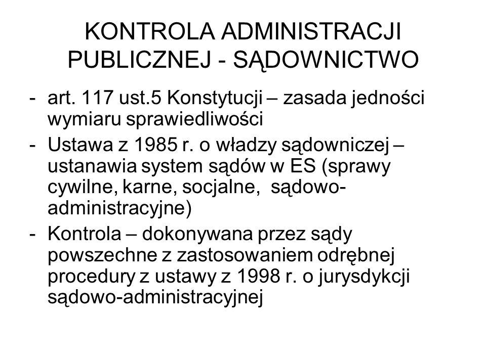 KONTROLA ADMINISTRACJI PUBLICZNEJ - SĄDOWNICTWO