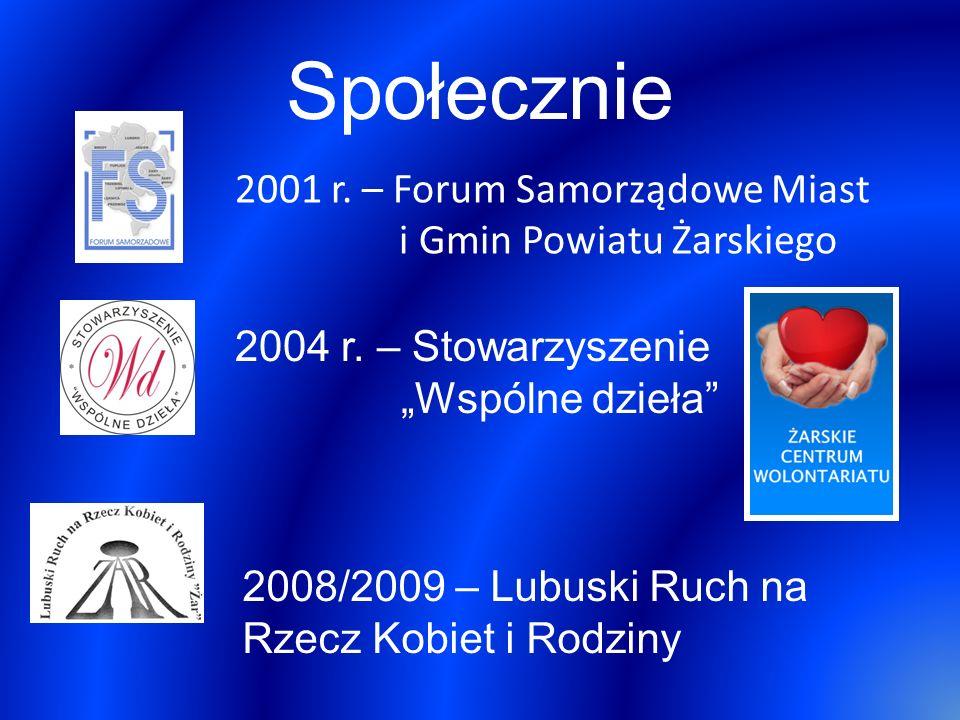 Społecznie 2001 r. – Forum Samorządowe Miast i Gmin Powiatu Żarskiego