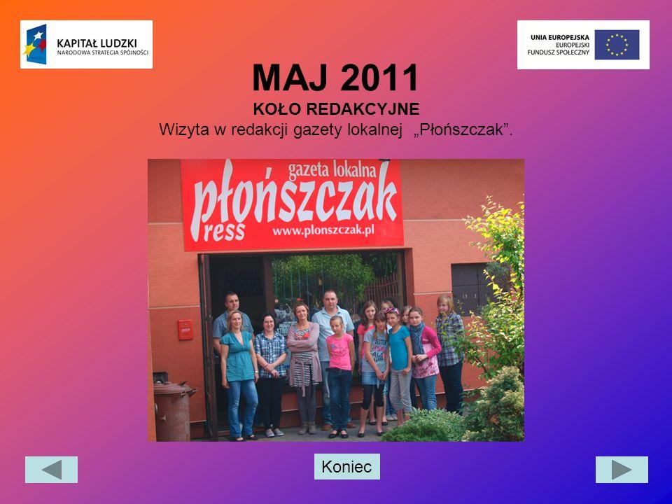 """MAJ 2011 KOŁO REDAKCYJNE Wizyta w redakcji gazety lokalnej """"Płońszczak ."""