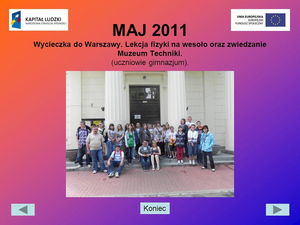 MAJ 2011 Wycieczka do Warszawy