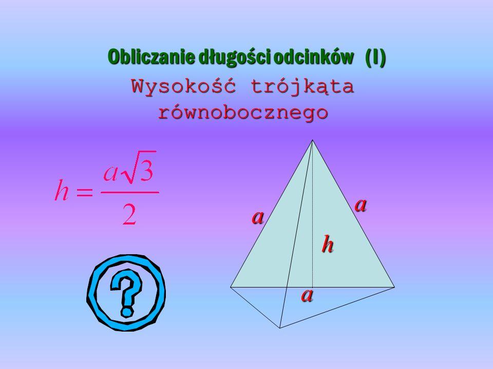 Obliczanie długości odcinków (I)