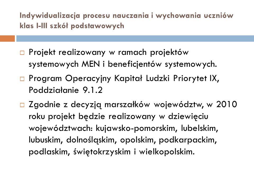 Program Operacyjny Kapitał Ludzki Priorytet IX, Poddziałanie 9.1.2