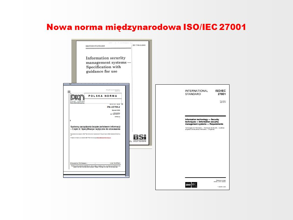 Nowa norma międzynarodowa ISO/IEC 27001