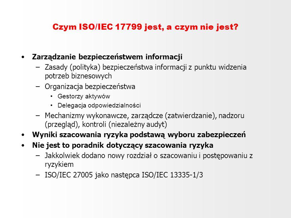 Czym ISO/IEC 17799 jest, a czym nie jest
