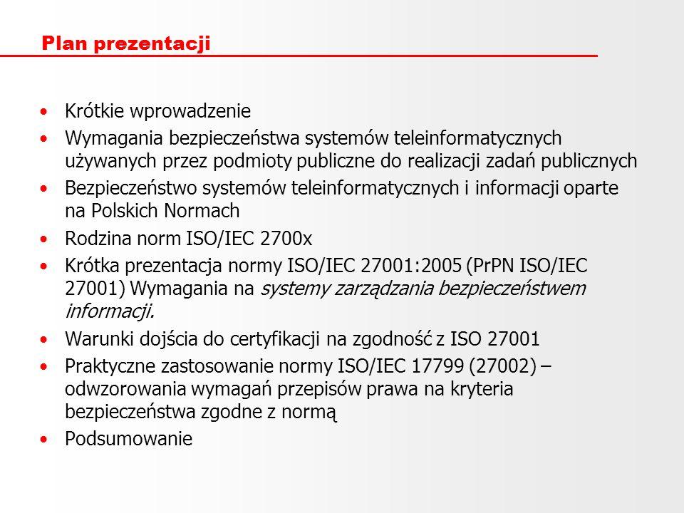 Plan prezentacji Krótkie wprowadzenie.