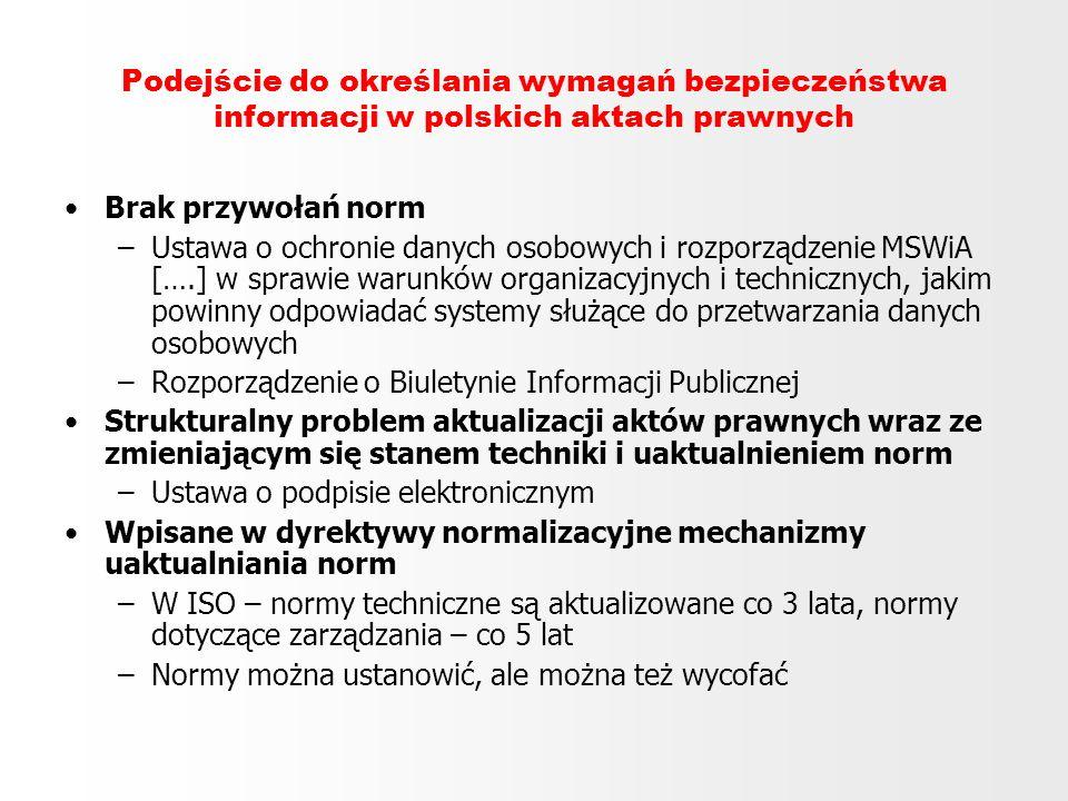 Podejście do określania wymagań bezpieczeństwa informacji w polskich aktach prawnych