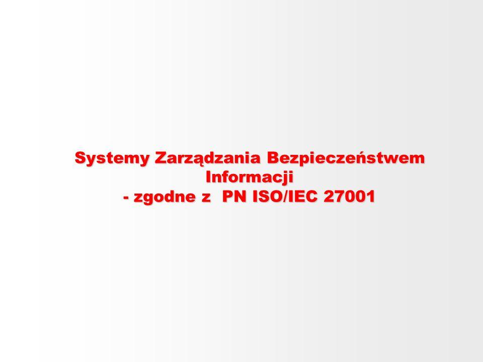 Systemy Zarządzania Bezpieczeństwem Informacji - zgodne z PN ISO/IEC 27001