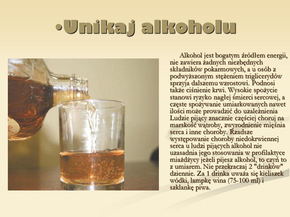 Unikaj alkoholu