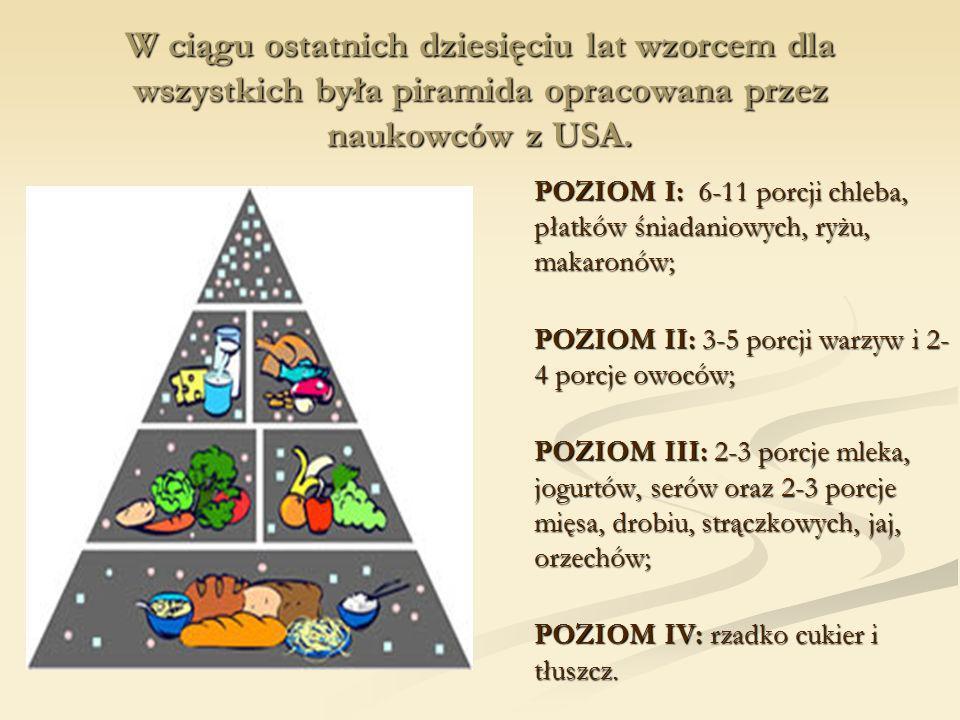 W ciągu ostatnich dziesięciu lat wzorcem dla wszystkich była piramida opracowana przez naukowców z USA.
