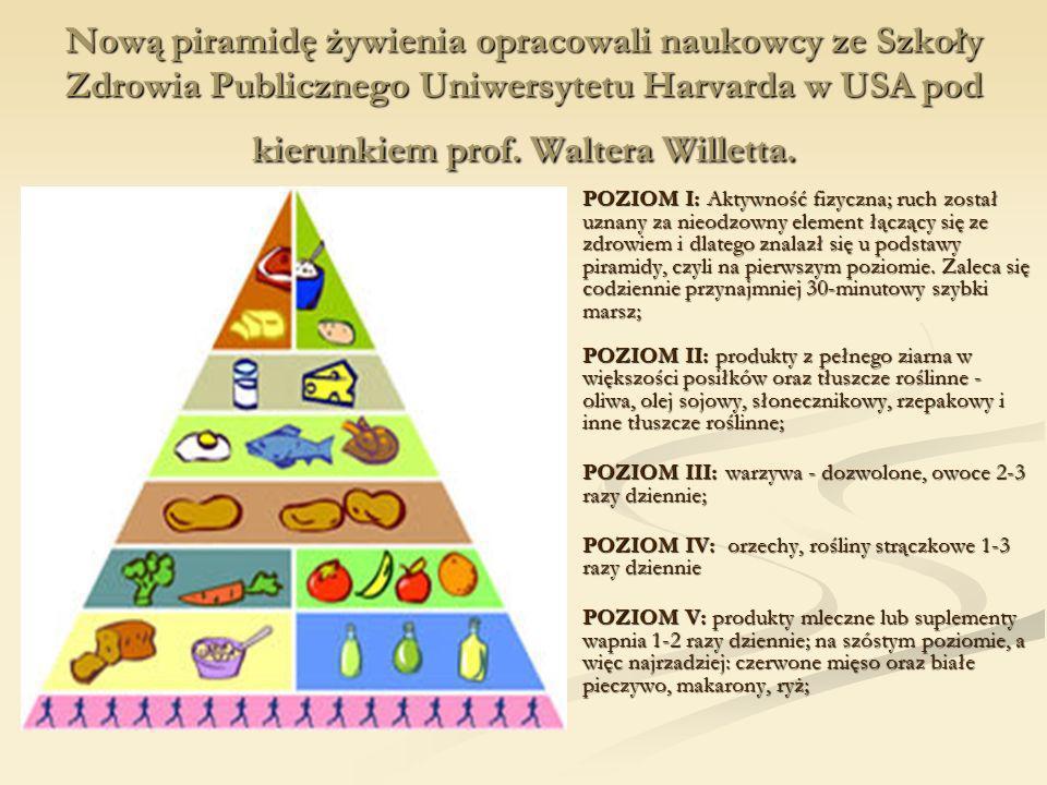 Nową piramidę żywienia opracowali naukowcy ze Szkoły Zdrowia Publicznego Uniwersytetu Harvarda w USA pod kierunkiem prof. Waltera Willetta.