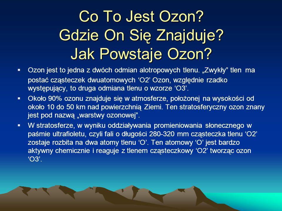 Co To Jest Ozon Gdzie On Się Znajduje Jak Powstaje Ozon