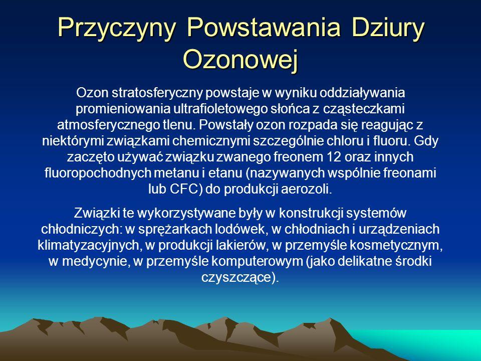Przyczyny Powstawania Dziury Ozonowej