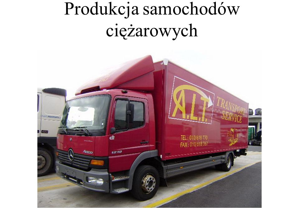 Produkcja samochodów ciężarowych