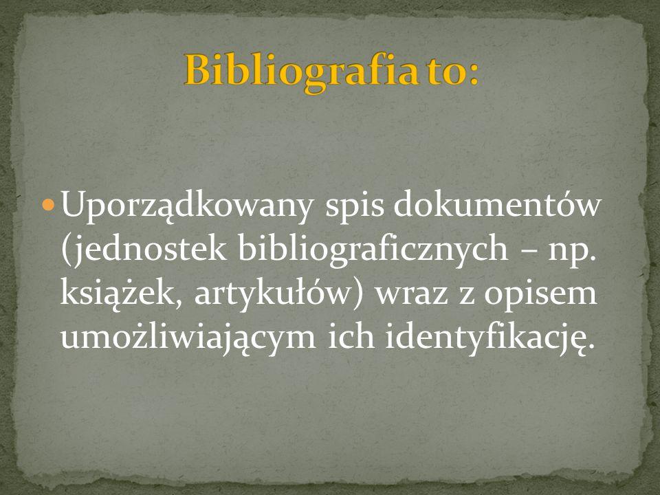 Bibliografia to: