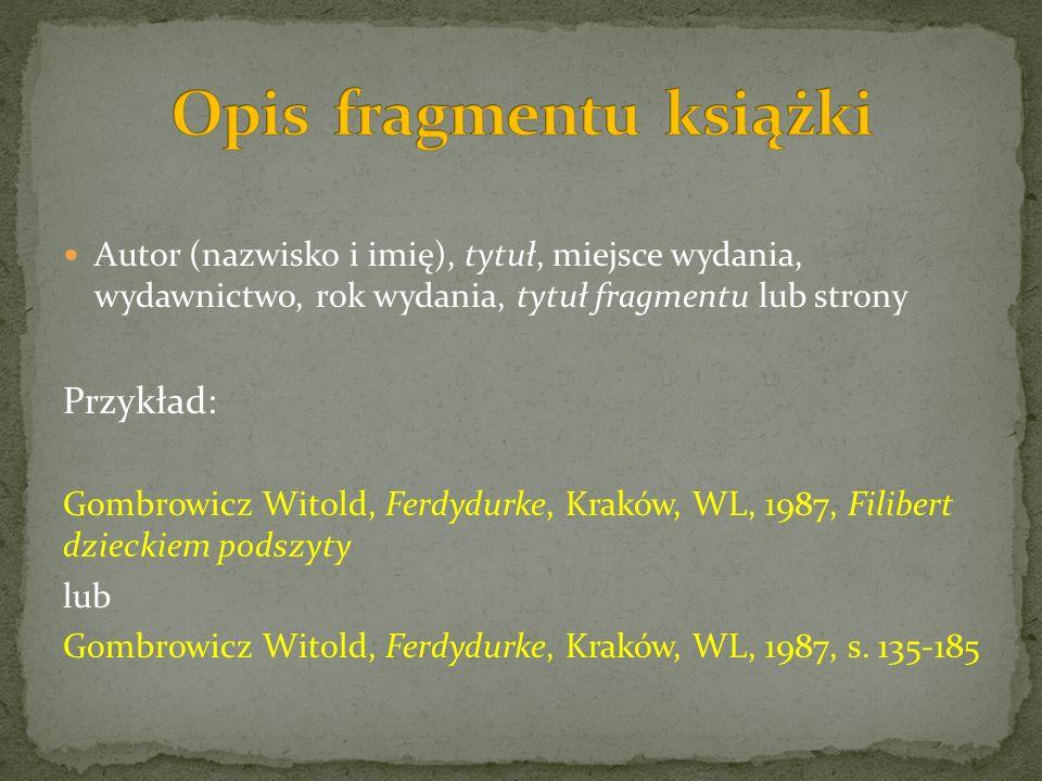 Opis fragmentu książki
