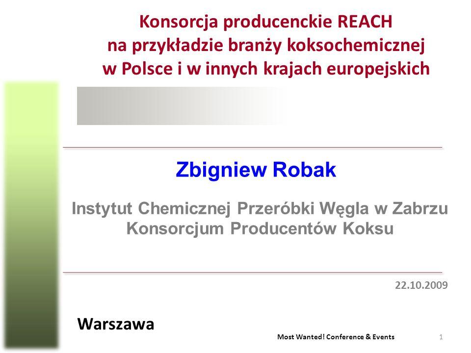 Konsorcja producenckie REACH na przykładzie branży koksochemicznej w Polsce i w innych krajach europejskich